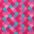 Blizzard Print Fleece Fabric -Pink Mermaid Scales