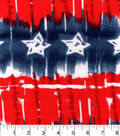 Snuggle Flannel Fabric -Red White Blue Star Tiedye