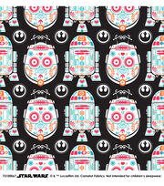 "Star Wars Cotton Fabric 44""-Character Sugar Skulls, , hi-res"