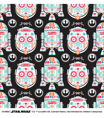 "Star Wars Cotton Fabric 44""-Character Sugar Skulls"