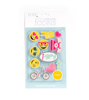 DCWV Home 11 Pack Letter Board Icons-Happy, , hi-res