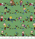 Peanuts Christmas Cotton Fabric-Snoopy & Friends with Lights