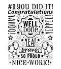 Darice Congrats Collage Embossing Folder