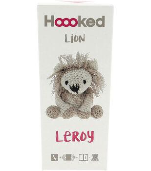 Hoooked Eco Barbante Lion Leroy DIY Crochet Kit-Beige & Taupe
