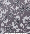 Blizzard Fleece Fabric 59\u0022-Gray Floral