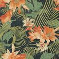 Tommy Bahama Outdoor Fabric 9\u0022x9\u0022 Swatch-Ocean Floral Caviar