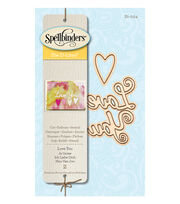 Spellbinders 2 Pack Etched Die D-Lites-Love You, , hi-res
