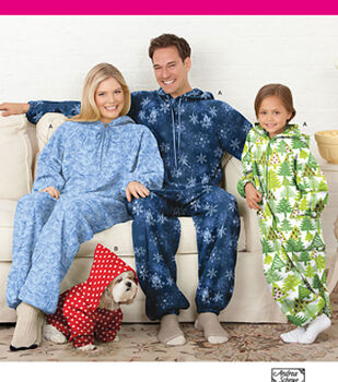 Simplicity Patterns 1731A Adult & Child's Fleece Jumpsuit-Size 4-5-6-7-8