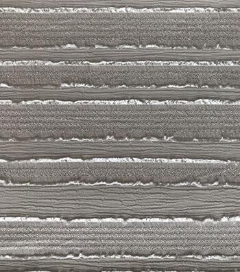 Silky Sheer Crepe Fabric 56''-Gray Stripe