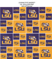 Louisiana State University Tigers Cotton Fabric 43''-Block, , hi-res