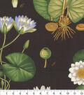 Genevieve Gorder Upholstery Fabric 54\u0027\u0027-Onyx Lotus Love