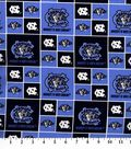 University of North Carolina Tar Heels Cotton Fabric -Block