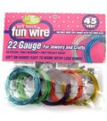 Fun Wire 22 Gauge Plastic Coated Copper Wire-9ft 5PK/Translucent