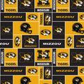 University of Missouri Tigers Fleece Fabric -Block