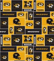 University of Missouri Tigers Fleece Fabric 58''-Block, , hi-res