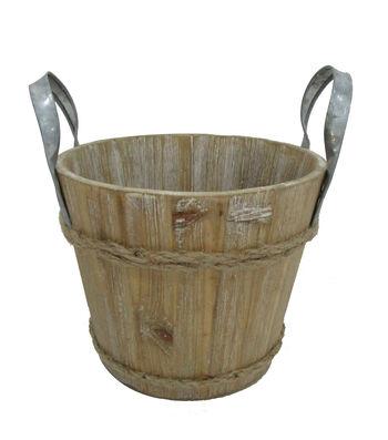 Blooming Autumn Medium Wooden Bucket