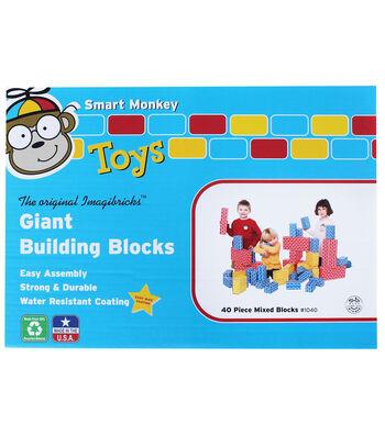 ImagiBRICKS Giant Building Block Set, 40 pcs