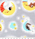 Nursery Flannel Fabric-Happy Moon Animals