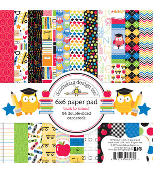 """Doodlebug Double-Sided Paper Pad 6""""X6"""" 24/Pkg-School"""