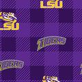 Louisiana State University Tigers Fleece Fabric-Buffalo Plaid