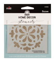 FolkArt Home Decor 4''x4'' Laser Cut Stencil-Suzani, , hi-res
