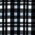 Quilter\u0027s Flannel Fabric 43\u0022-Grunge Plaid Black & White
