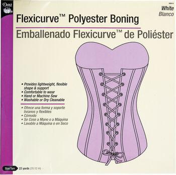 Boning Flexicurve Poly White- 22Yd