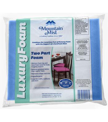 """Mountain Mist 2""""x15""""x17"""" Luxury Foam"""