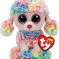 TY Beanie Boo Multicolor Poodle-Rainbow
