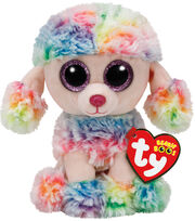 TY Beanie Boo Multicolor Poodle-Rainbow, , hi-res
