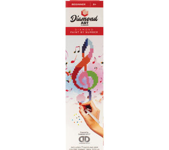 Leisure Arts Diamond Art Beginner Kit 8''X8''-Treble Clef