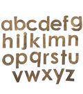 Fab Lab Craft 36 pk Lowercase Alphabet Letters-Rustic