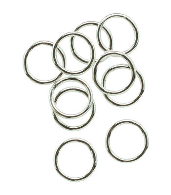 Silver Plated Metal Findings-6mm Closed Jump Ring 28/Pkg