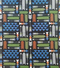 Anti-Pill Plush Fleece Fabric-Explore Arrows On Black