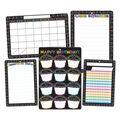Smart Poly Chalk Dots with Loops Classroom Charts 13\u0022x19\u0022 Set of 6