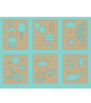 Hampton Art 7X9 Stencils-Cute Icons, , hi-res