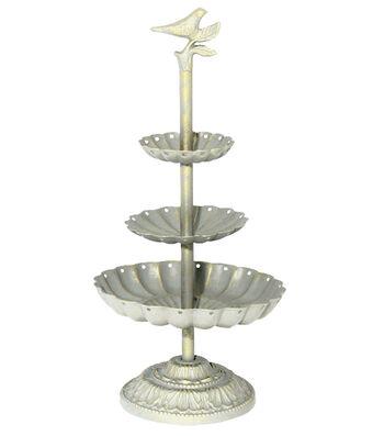 Bird Bath Jewelry Holder 3 Tiers-Antique Ivory