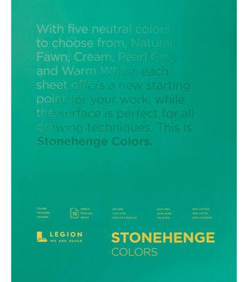 Legion Paper Stonehenge 15-sheet 11''x14'' 90 lb Paper Pad-Multicolor