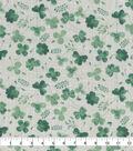 St. Patrick\u0027s Day Cotton Fabric-Greenery Cream