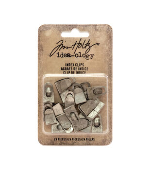 Tim Holtz Idea-ology Pack of 24 0.75'' Index Clips