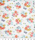 Premium Quilt Cotton Fabric-Sadie Flower Bunches White