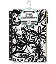 The Happy Planner-Black Flowers, , hi-res
