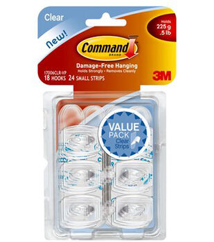Command Mini Hook Clear Value Pack