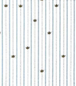 Nursery Flannel Fabric-Bee Line