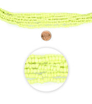 "Blue Moon Beads 14"" Strand Glass Seed Bead Muted Lime, , hi-res"