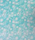 Sew Lush Fabric-Aqua Floral