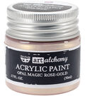 Prima Marketing Art Alchemy 1.7 oz. Acrylic Paint-Opal Magic Rose Gold