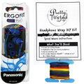 Pretty Twisted Headphone Wrap DIY Kit with Earphones-Reggae