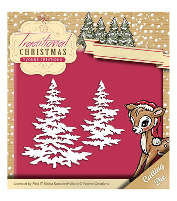 Yvonne Creations Traditional Christmas 2''x3.25'' Die-Snowy Tree