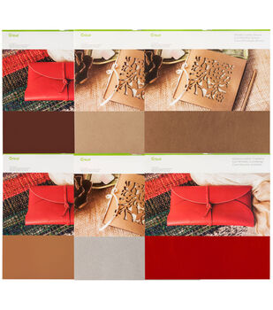 Cricut Leather 6 Pack-Variety